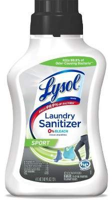 Lysol Laundry Sanitizer Sport 0% Bleach – 41oz