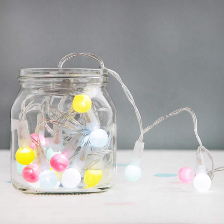 Postbox Party Pastel Mini Festoon Fairy Lights