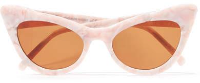 GANNI - Cat-eye Acetate Sunglasses - Baby pink