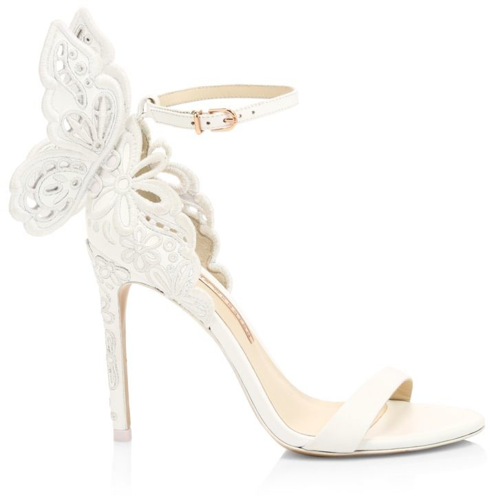Chiara Butterfly Broderie Leather Sandals