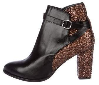 Markus Lupfer Glitter-Accented Leather Boots Black Markus Lupfer Glitter-Accented Leather Boots