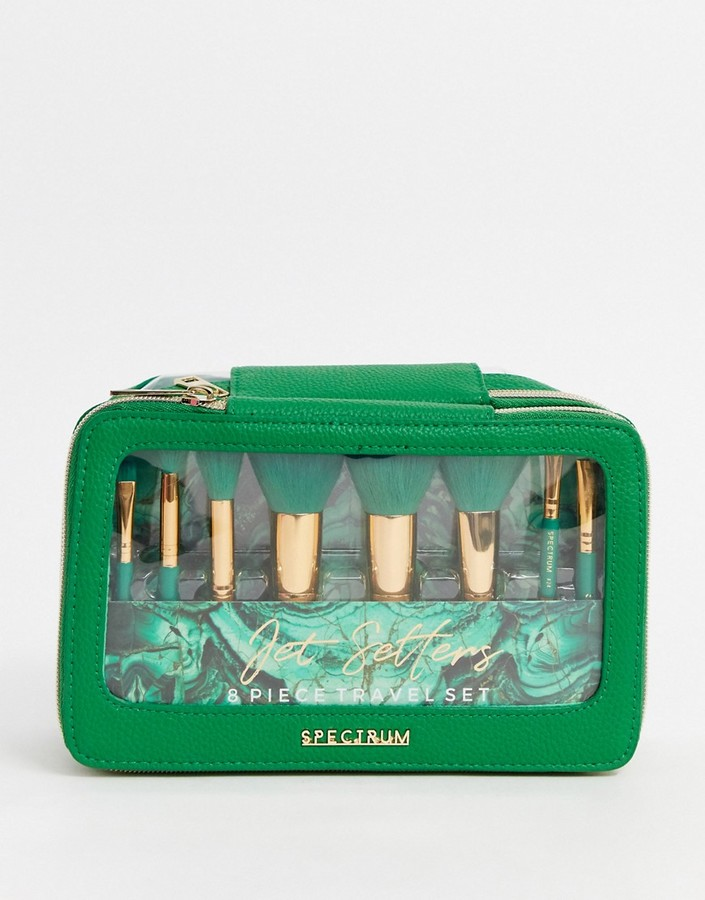 Spectrum Malachite Jet Setter Makeup Brush Set
