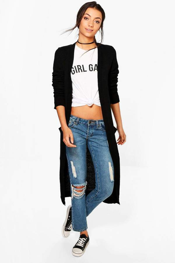 Tall Chunky Knit Longline Cardigan