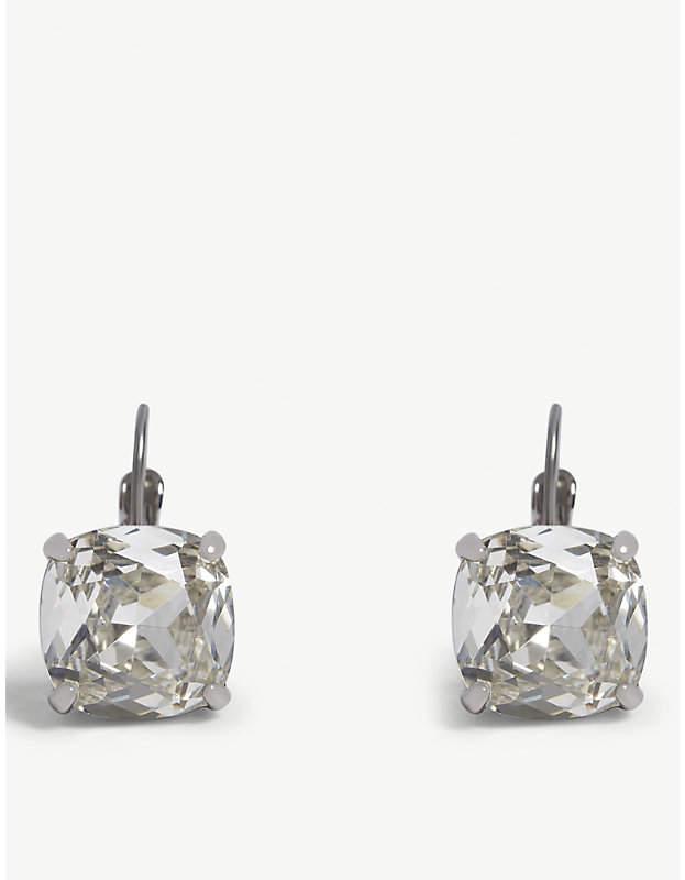 kate spade new york Square crystal leverback earrings