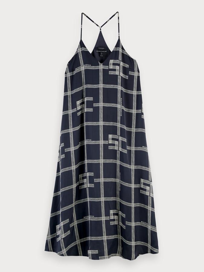 Printed sleeveless slip dress | Women