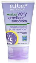 Pure Lavender Sunscreen SPF 45 by Alba Botanica (4oz Sunblock)