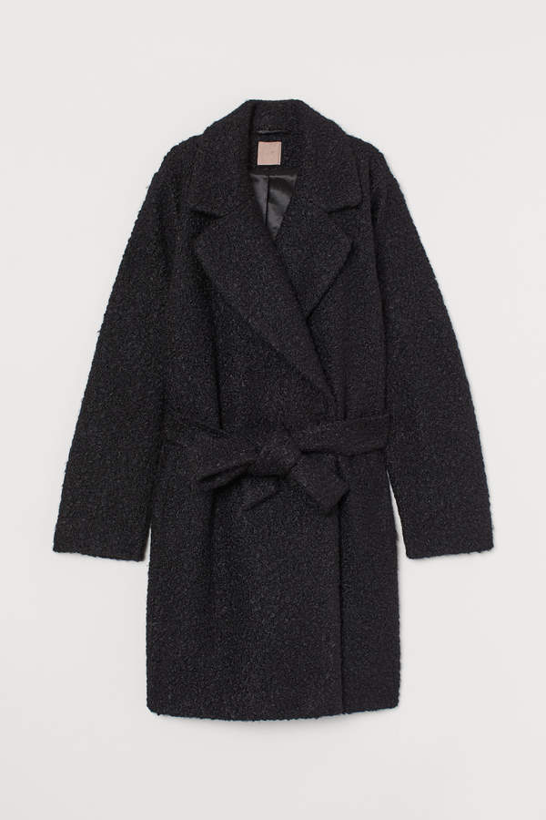 H&M+ Coat with a tie belt