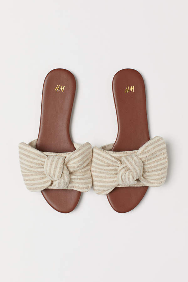 H&M - Sandals with Bow - Orange
