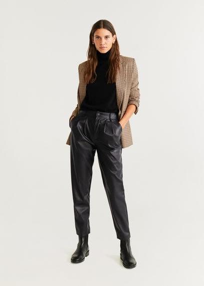 MANGO Dart high waist trousers