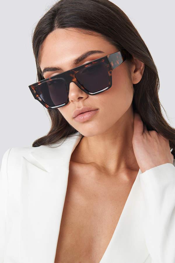Hoss X NA-KD Square Tortoise Sunglasses Brown