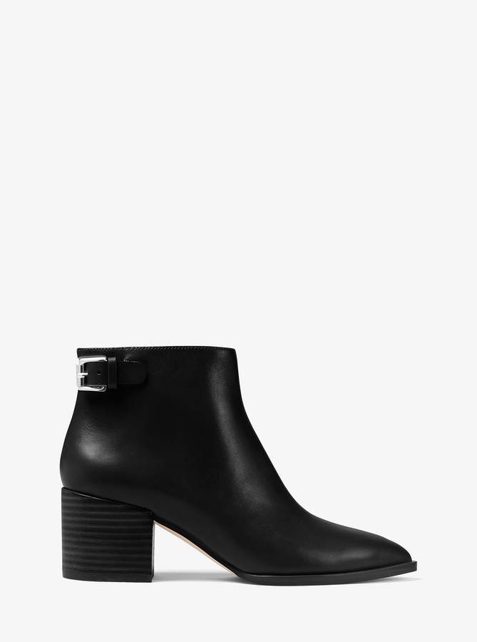 Michael Michael Kors Saylor Leather Ankle Boot