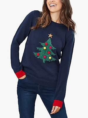 Joules The Cracking Christmas Jumper, French Navy