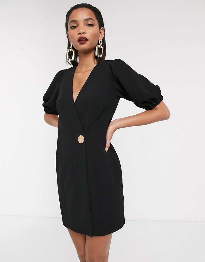 Asos Design ASOS DESIGN mini wrap dress with statement button