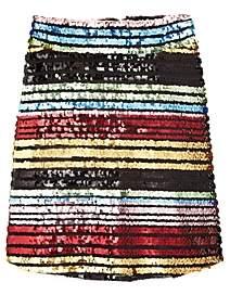 Miss Behave Girls' Sarah Rainbow Sequin Skirt - Big Kid