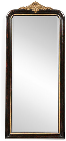 Black And Gilded Mirror, Full Length