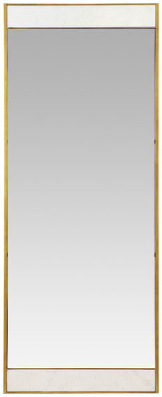 Aspire Home Accents Lina Modern Floor Mirror Gold With Marble