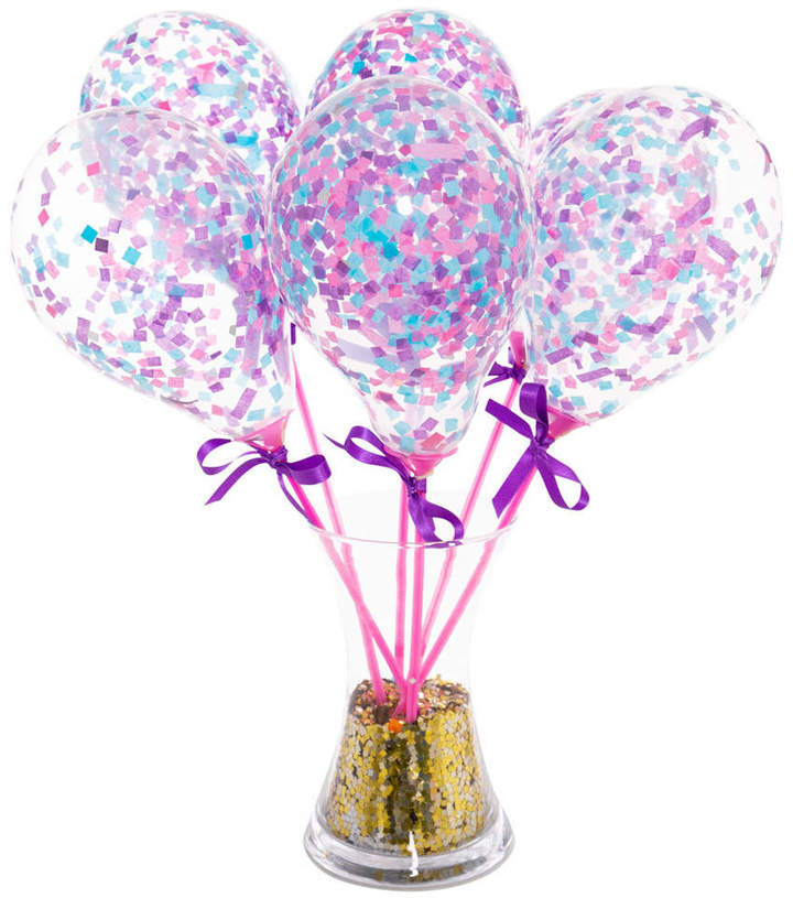 Bubblegum Balloons Set Of Six Mermaid Mini Balloon Wands