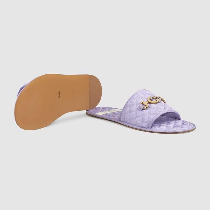 Gucci Women's slide sandal with Interlocking G Horsebit
