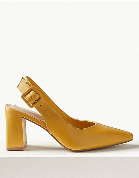 M&S Collection Leather Slingback Shoes