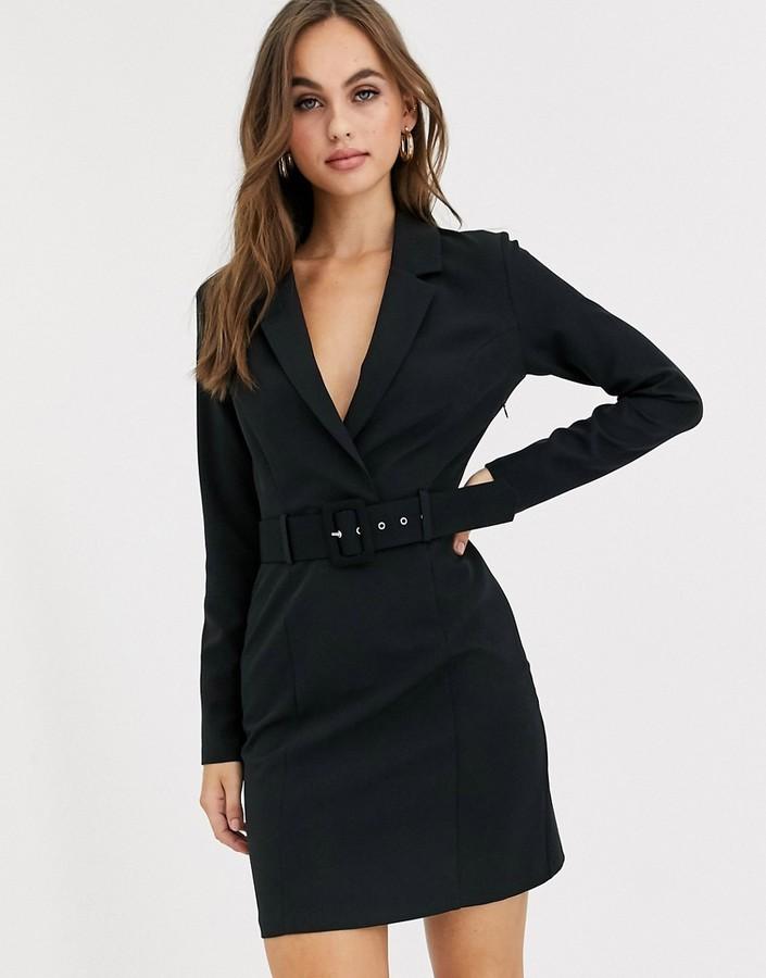 Miss Selfridge tux dress in black
