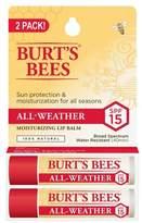 Burt's Bees All-Weather SPF 15 Moisturizing Lip Balm - 2pk