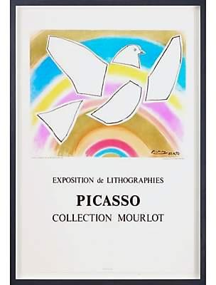 John Lewis & Partners Pablo Picasso - Atelier Mourlot The Rainbow Dove Framed Original Print, 82 x 60cm