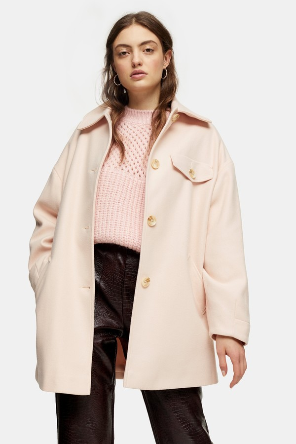 Womens Pale Pink Shacket - Pale Pink