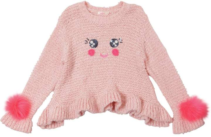 Billieblush Smiley Face Knit Sweater