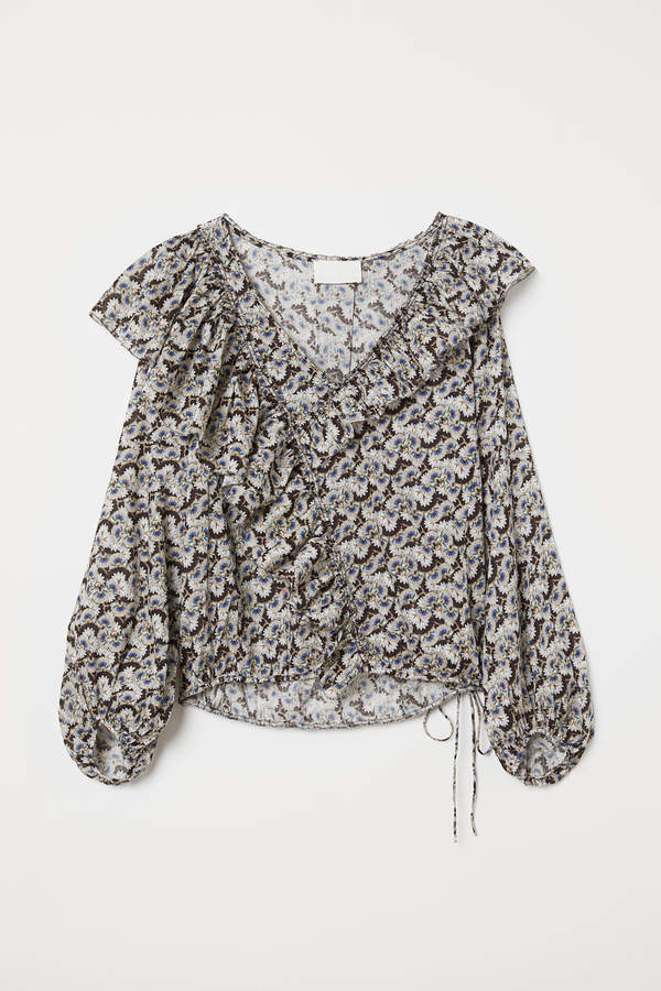 H&M Patterned cotton blouse