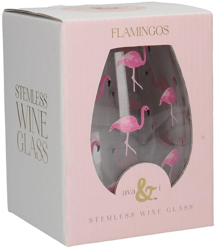 Creative Tops Ava & I Flamingos Stemless Wine Glass