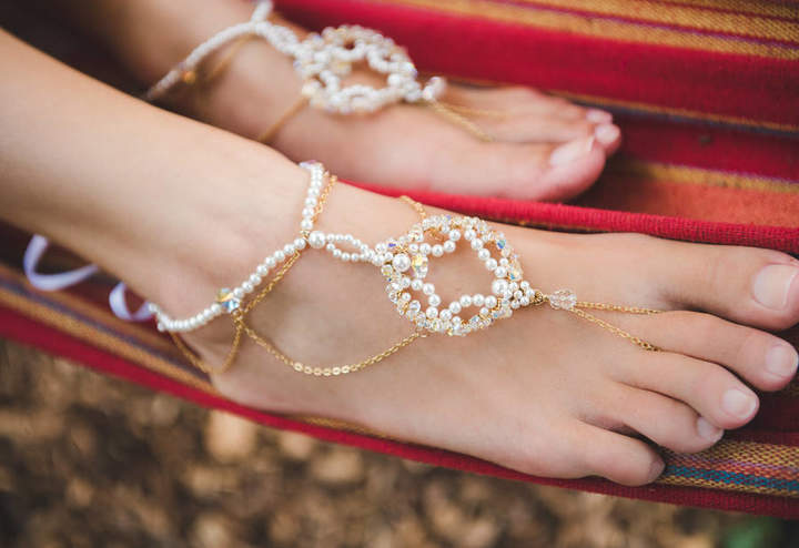 PS With Love Priya Bridal Barefoot Sandals