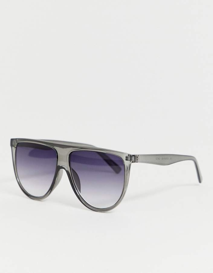 Selected Femme flat top visor sunglasses