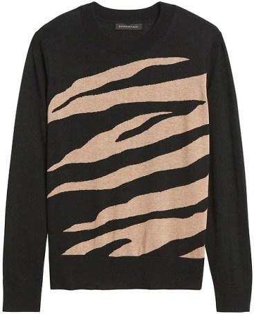 Banana Republic zebra stripe sweater