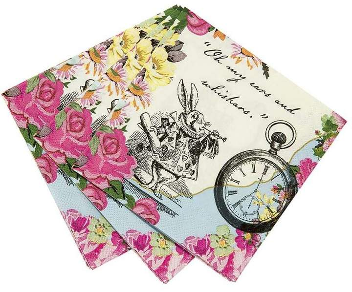 Postbox Party Alice In Wonderland Napkins