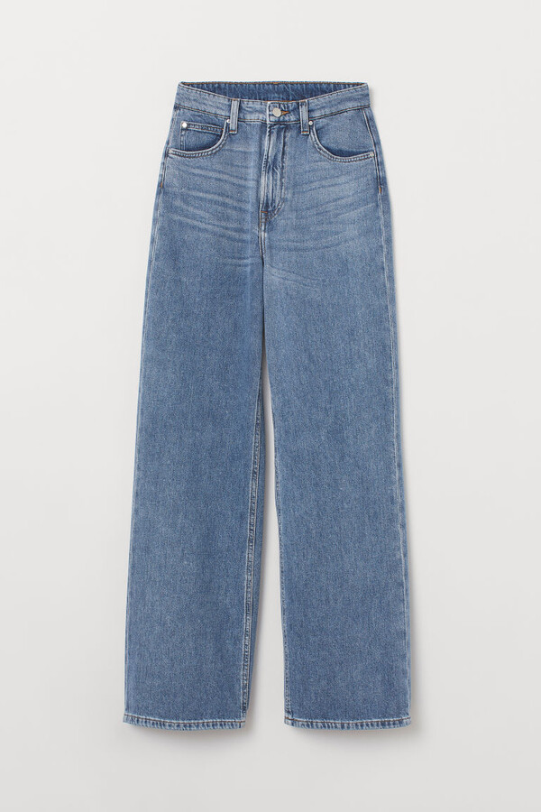 H&M - Wide High Jeans - Blue