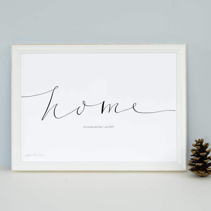 Gabrielle Izen Design Personalised 'Home' Art Print
