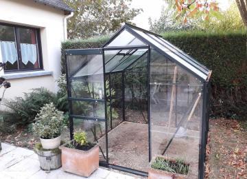Serre De Jardin Verre Adossee | Serre En Verre Pour Jardin Modèle ...
