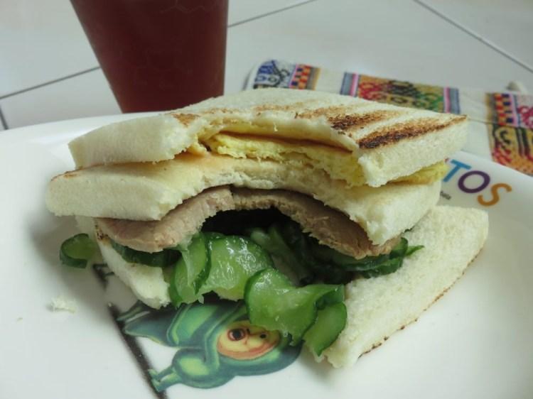 內湖早餐 喜得炭火燒三明治生意不錯