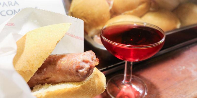 巴塞隆納美食 酒吧粉紅Cava搭配現煎肉腸La Xampanyeria
