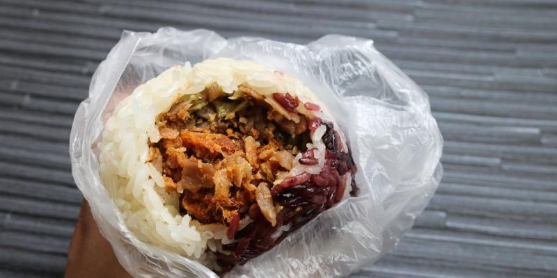 內湖早餐 米酋長飯團來自花蓮自產好米 招牌飯糰雙鬆好吃