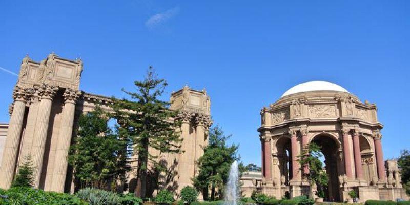 《美國加州》Palace of Fine Arts Theatre。藝術宮。耍浪漫的好地方