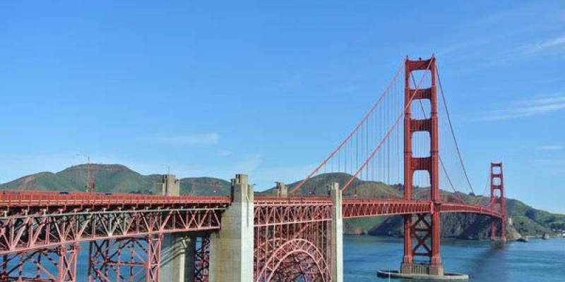《美國加州》史丹佛大學。金門大橋。Golden Gate Bridge