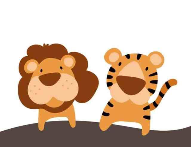 獅子老虎圖 PDF
