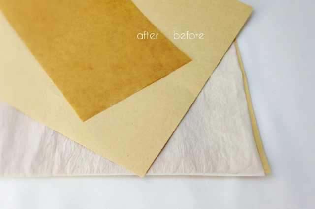 自製蠟紙包裝標籤 - 一般牛皮紙上蠟前後