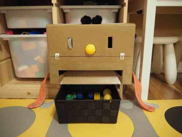 DIY 自製紙箱玩具 紙箱機器人