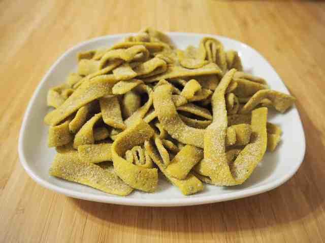 副食品番茄菠菜綜合食物泥 自製麵條(寬麵)(製麵機)