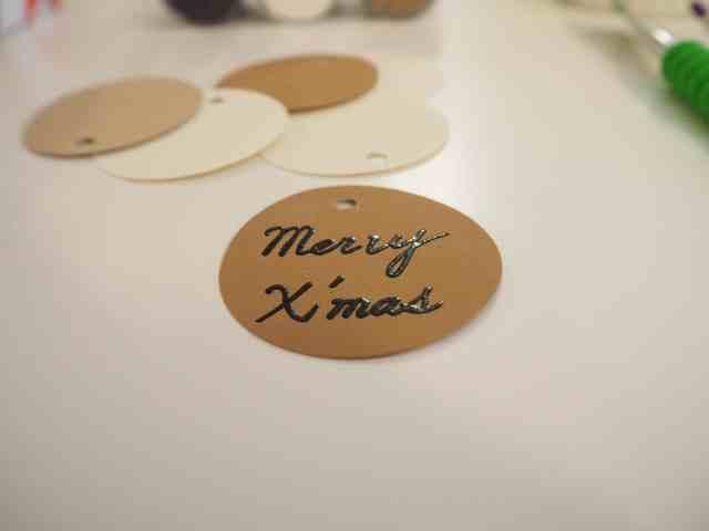 自製燙凸禮物標籤 Embossing gift tags