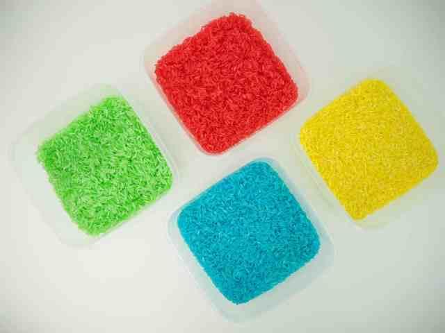 食用色素 染出彩色米