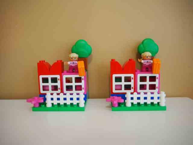 樂高積木 玩顏色與相同認知