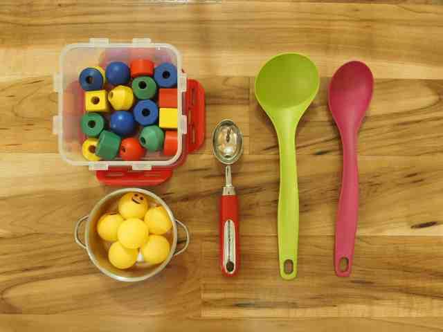 大湯勺與木珠 乒乓球